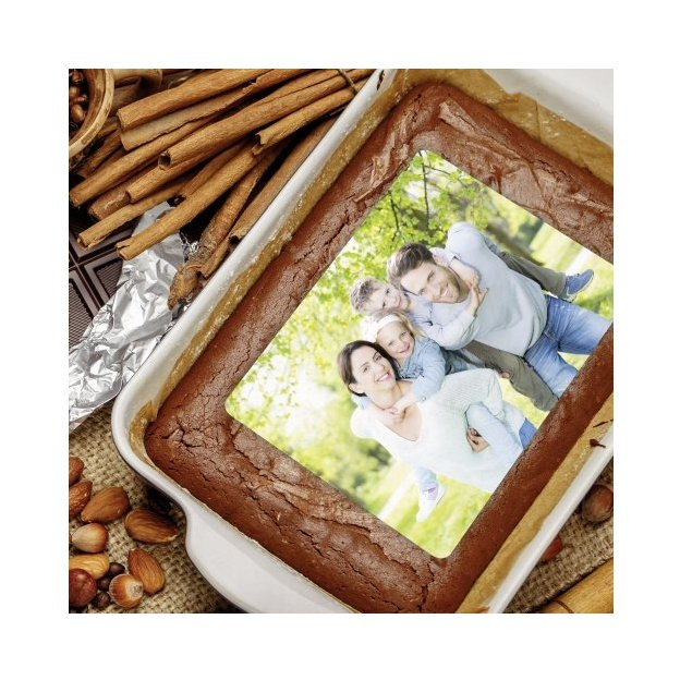 Photo comestible pour gâteau, rectangle 20 x 27 cm
