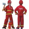 Déguisement de pompier, taille: 140