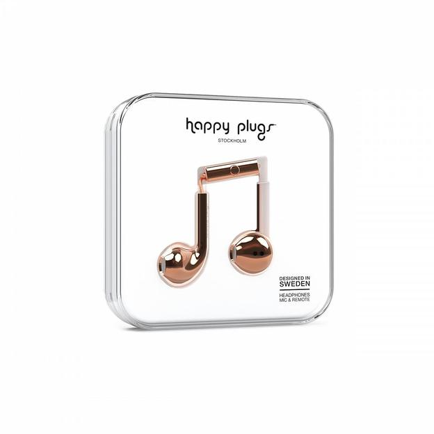 Happy Plugs Kopfhörer Deluxe Edition Rose Gold Chrome