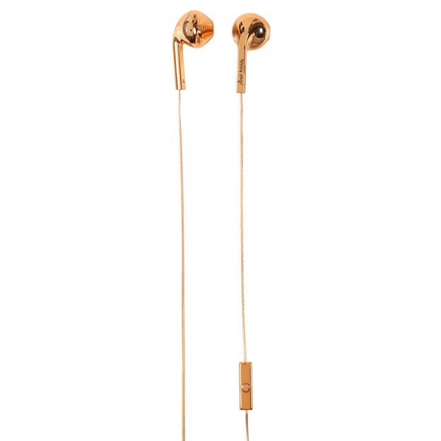 Écouteurs Happy Plugs Deluxe Edition Rose Gold Chrome