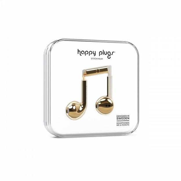 Happy Plugs Kopfhörer Deluxe Edition Gold Chrome