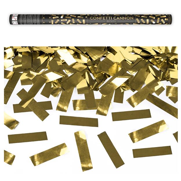 Konfettikanone Gold 80cm