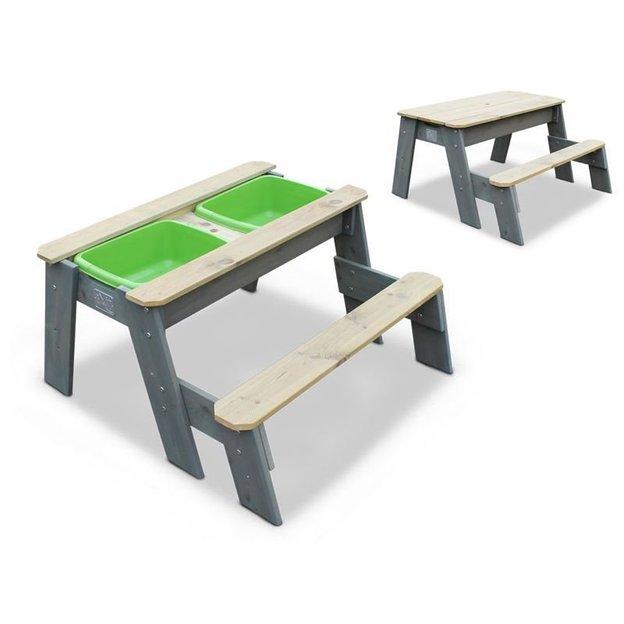 EXIT Aksent Table de pique-nique pour enfant avec bacs à sable
