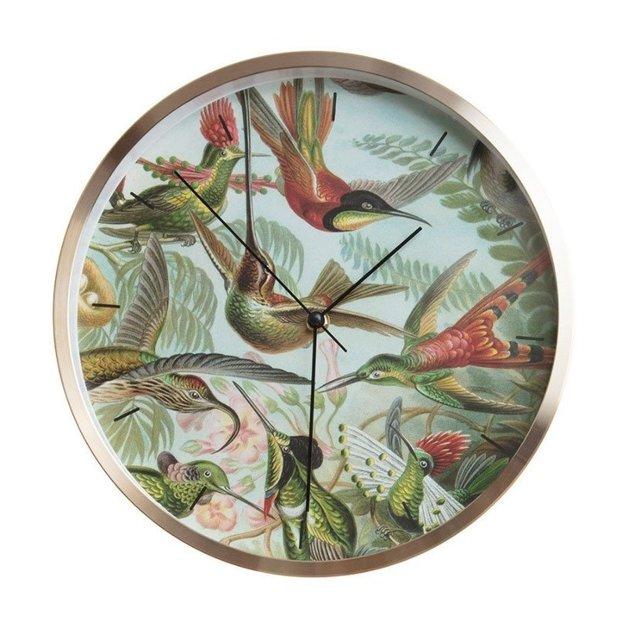 Wanduhr Kolibris