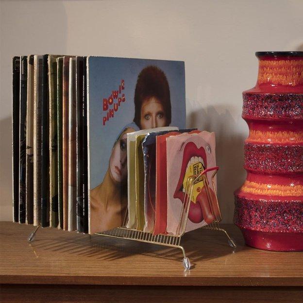 Rangement pour vinyles rétro