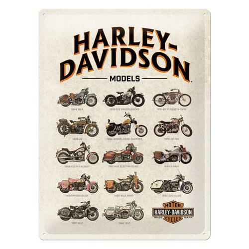 Image of Blechschild Harley Davidson Models 30 x 40