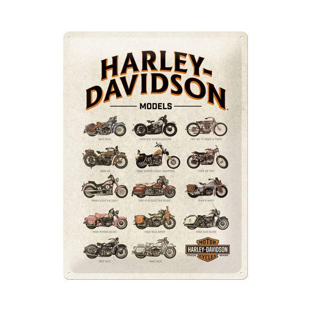 Blechschild Harley Davidson Models 30 x 40