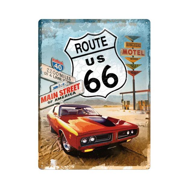 Blechschild Route 66 30 x 40
