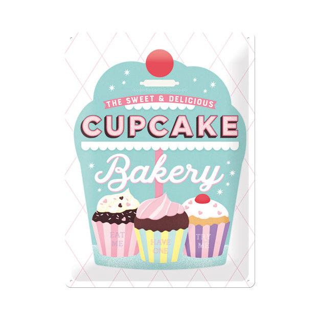 Blechschild Cupcake Bakery 30 x 40