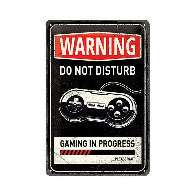 Plaque en métal Gaming 20 x 30 cm