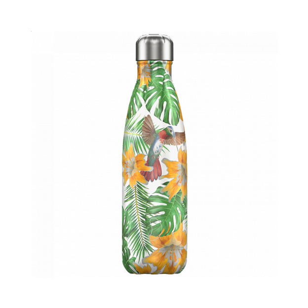 Chilly's Bottles Limited Edition, Trinkflasche Tropical Flowers 500ml