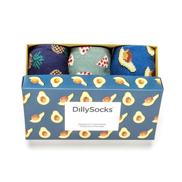 DillySocks Geschenkset Avocado 36-40