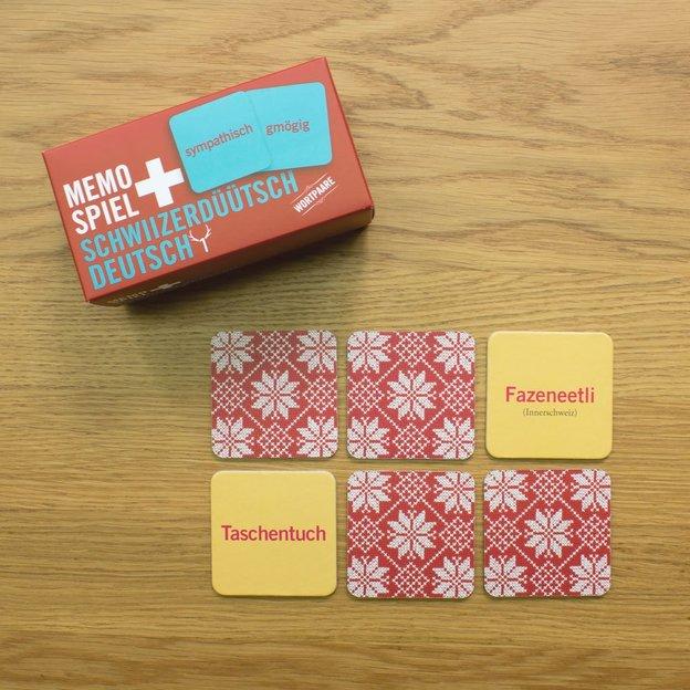 Memospiel Schwiizerdüütsch-Deutsch 48 Karten