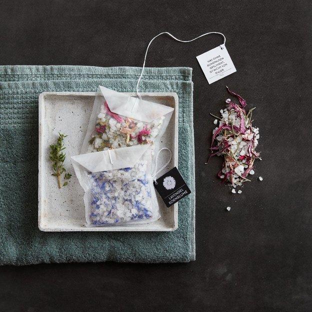 Blütenbadesalz Lavendel & Kornblume im Beutel