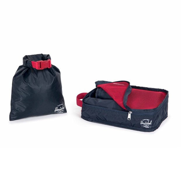 Set de voyage Herschel travel organizer et dry bag, set de 4, navy
