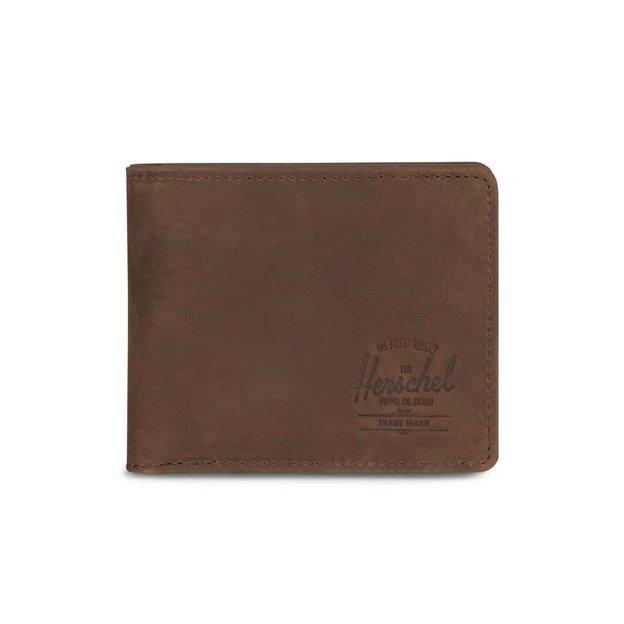 Herschel Portemonnaie Hank + Coin Leather RFID Brown