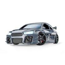 Drift Racer grau - Fahrdynamik eines realen Rennautos