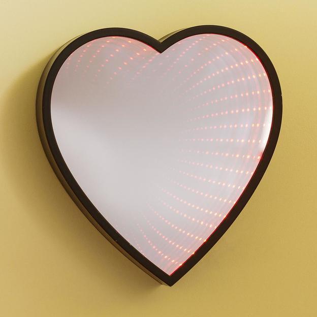 LED Infinity Herz Spiegel