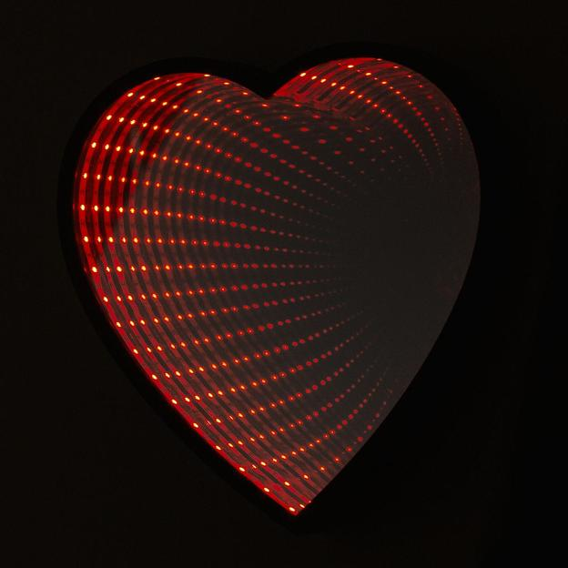 Miroir Coeur Infinity LED