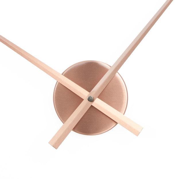 Wanduhr ohne Ziffernblatt Ø 50cm kupfer