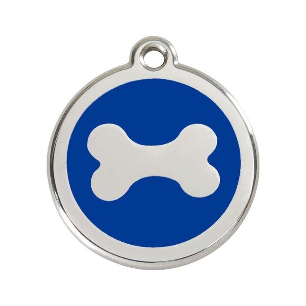 Médaille personnalisée chien et chat fantaisie Ø 20 mm - Os