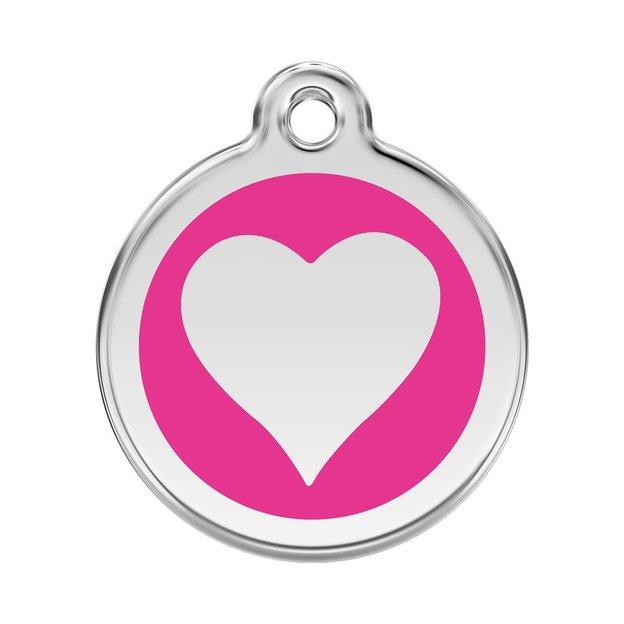 Médaille personnalisée chien et chat fantaisie Ø 30 mm - Coeur