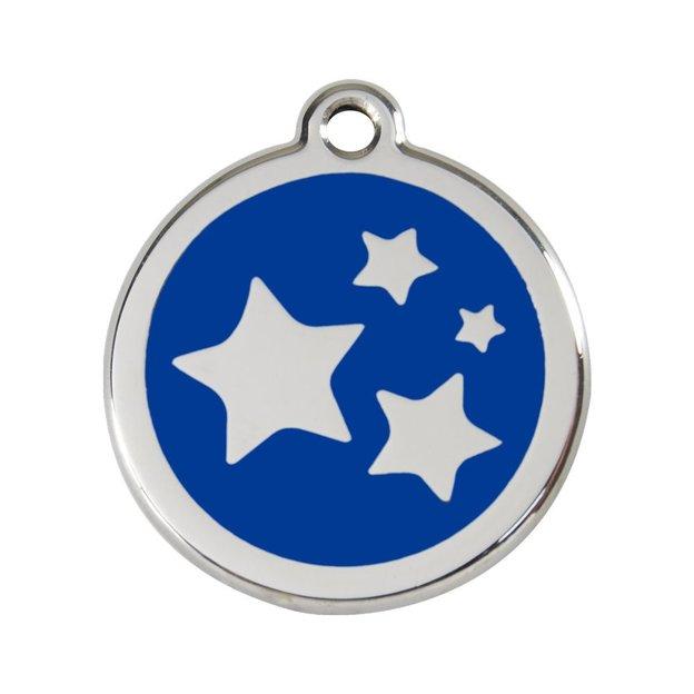 Médaille personnalisée chien et chat fantaisie Ø 30 mm - Etoile