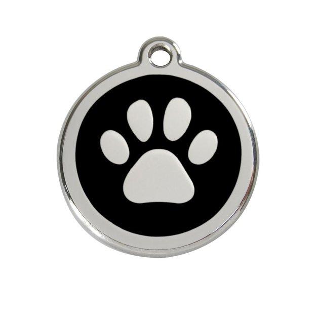 Médaille personnalisée chien et chat fantaisie Ø 38 mm - Patte de chien