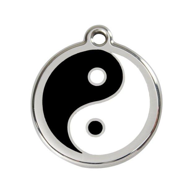 Médaille personnalisée chien et chat fantaisie Ø 38 mm - Ying Yang