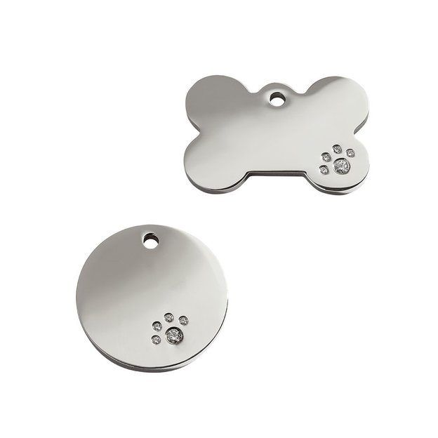 Personalisierbare Swarovski Hunde- & Katzenmarke small