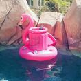 Seau à glace et porte-verres Flamant rose gonflable