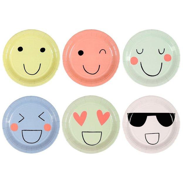 Assiettes en carton Emoji - 12 pièces