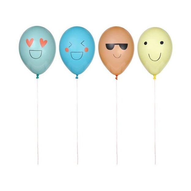 Party Ballone Emoji 8 Stk.