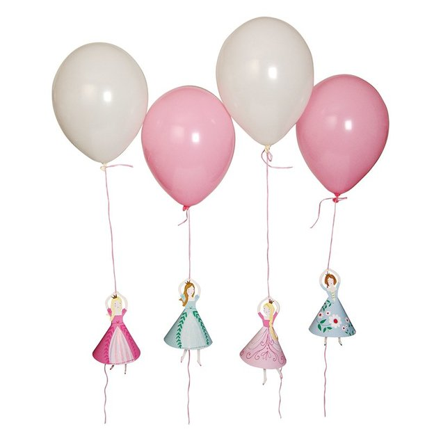 Ballonhalter Prinzessin inkl. 8 Ballone
