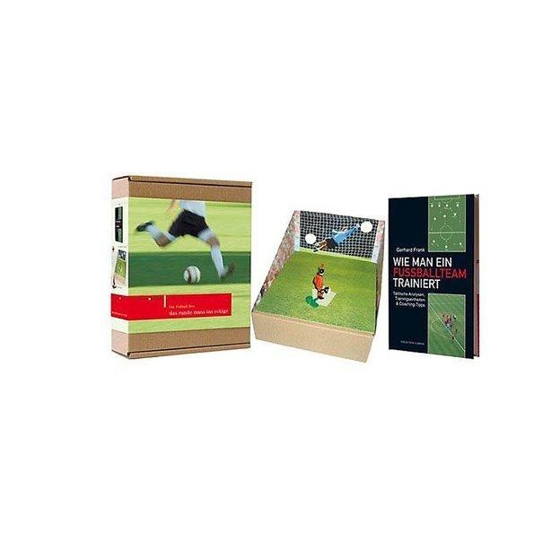 Fussball Geschenkset - Buch, Tippkick Figur & Torwand