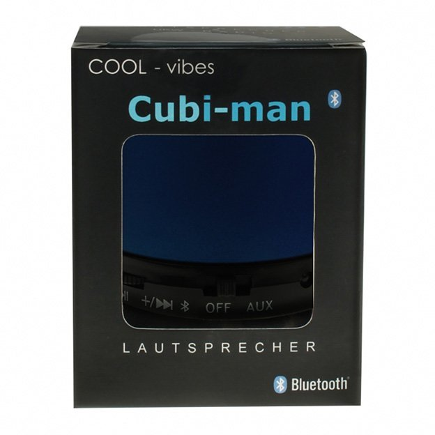 Haut-parleur Bluetooth Cubi-Man, bleu