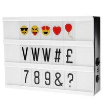Panneau lumineux avec lettres et emoji Vegas Lights