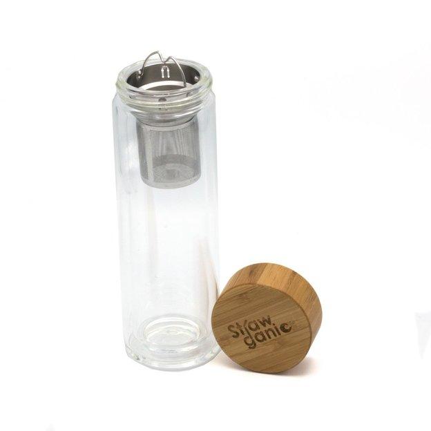Théière / carafe à double paroi (450 ml) de Strawganic