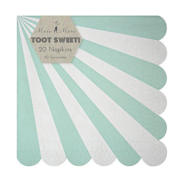 Serviettes en papier rétro - menthe - 20 pièces