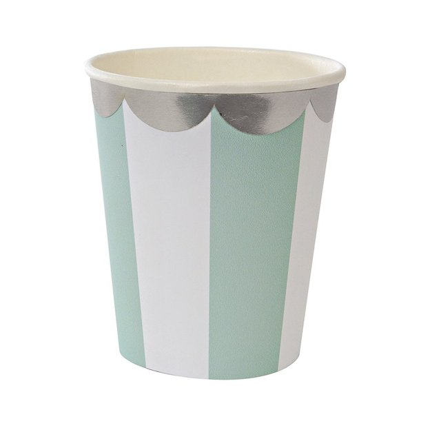 Party Pappbecher mint 8 Stk.