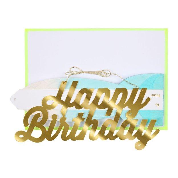 Faltkarte & Partydeko Happy Birthday