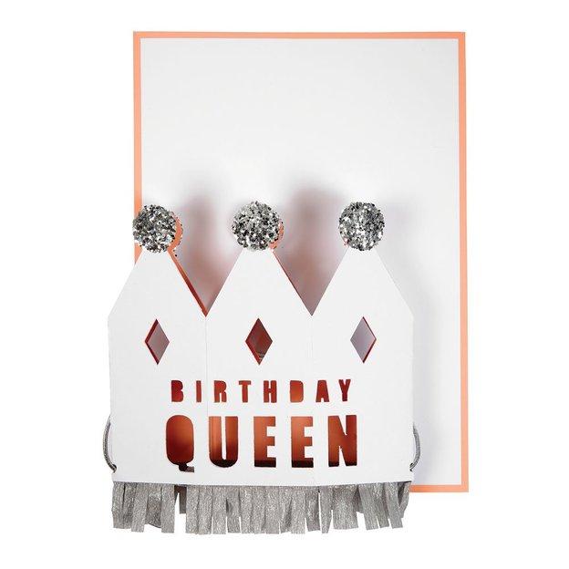 Grusskarte & Partykrone Birthday Queen