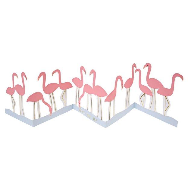 Grusskarte & Partydeko Flamingos