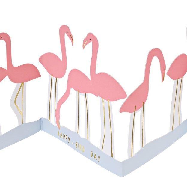 Faltkarte & Partydeko Flamingos