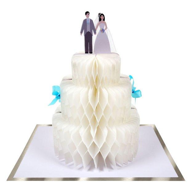 Carte de vœux Gâteau de mariage 3D