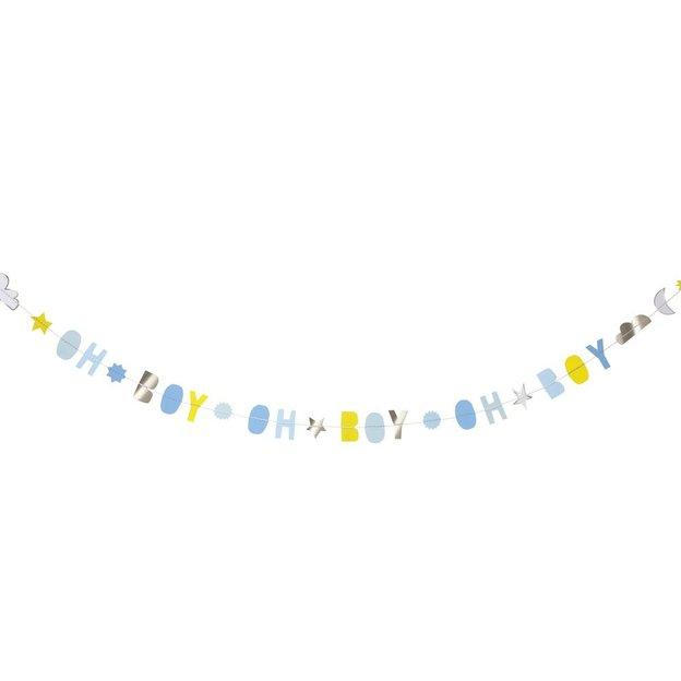 Carte de vœux Guirlande Baby Boy