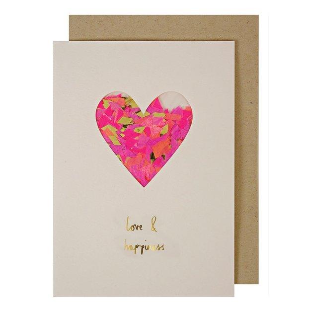 Grusskarte Konfetti-Herz