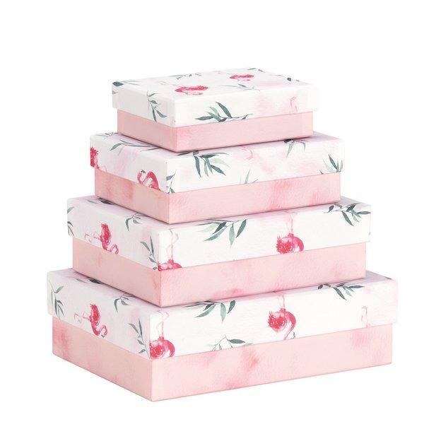 Geschenkboxen Flamingo 4-teilig