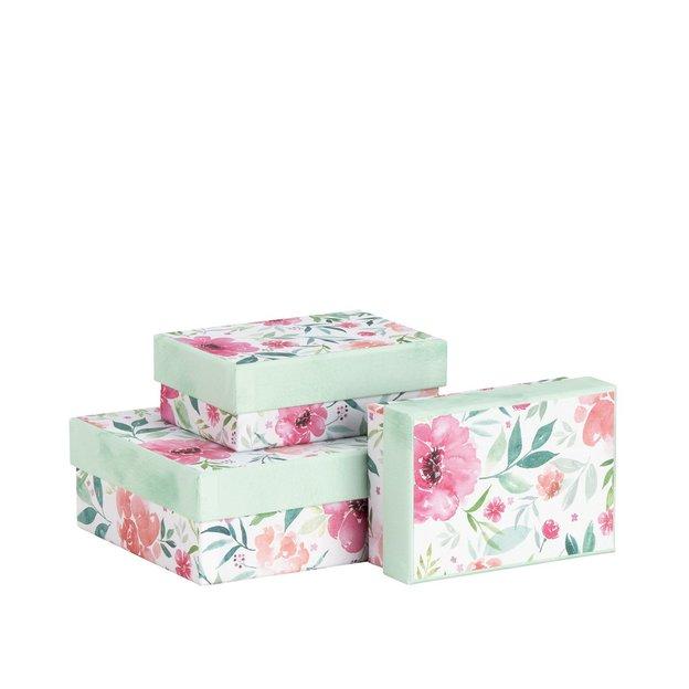 Geschenkboxen Blüten 3-teilig