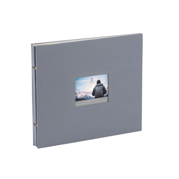 Fotoalbum mit Passepartout grau